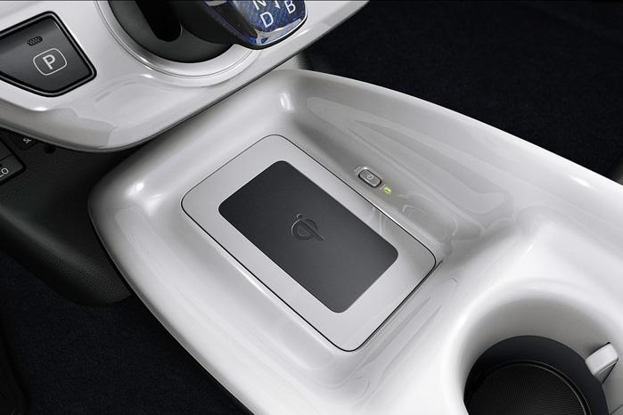 I fineste udstyrsvariant, H4, er der trådløs opladning af Qi-kompatible mobiltelefoner