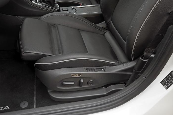 AGR-sæderne er videreudviklet med kølig luft, massage og justerbar sidestøtte