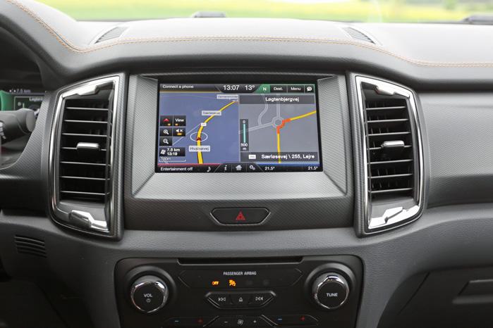 Otte-tommers touchskærm er standard i alle Ranger-modeller