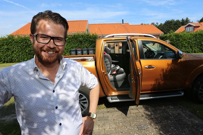 Både Steffen Høy og hans familie elsker pickuppen alsidighed, når der skal transporteres til hverdag og leges i fritiden