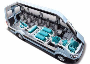 Hyundai fremtidssikre deres store varebil H350 med brint-drivlinje. Rækkevidden er 422 km, og topfarten er 150 km/t.
