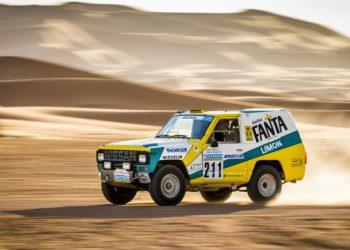 Nissan Patrol Fanta Limon har rådnet op i næsten 30 år, før spanske Nissan-ingeniører fandt den igen og satte den i stand, og tod den med tilbage til Nordafrika.