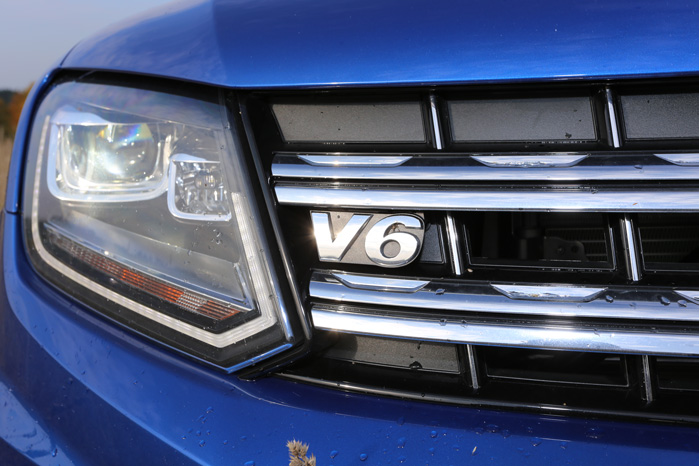V6 med op effekt-trin fra 163 til 224 hk er alene om at drive Amarok fra nu af