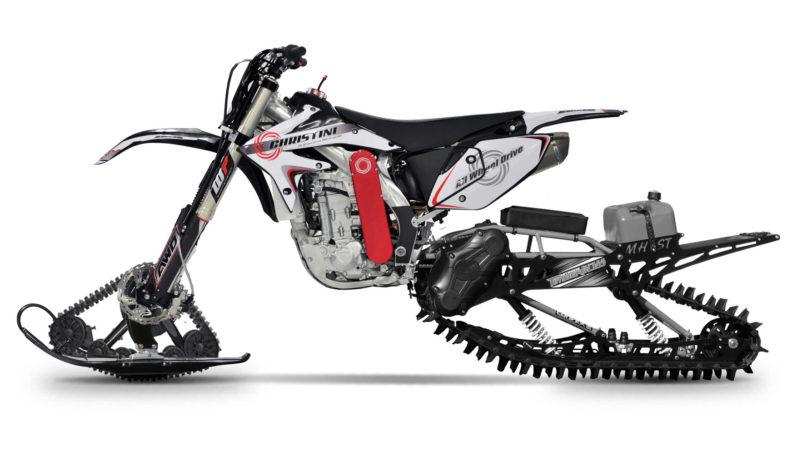 Snescooter-konkurrenten fås med enten 300 kubiks eller 450 kubiks motor.