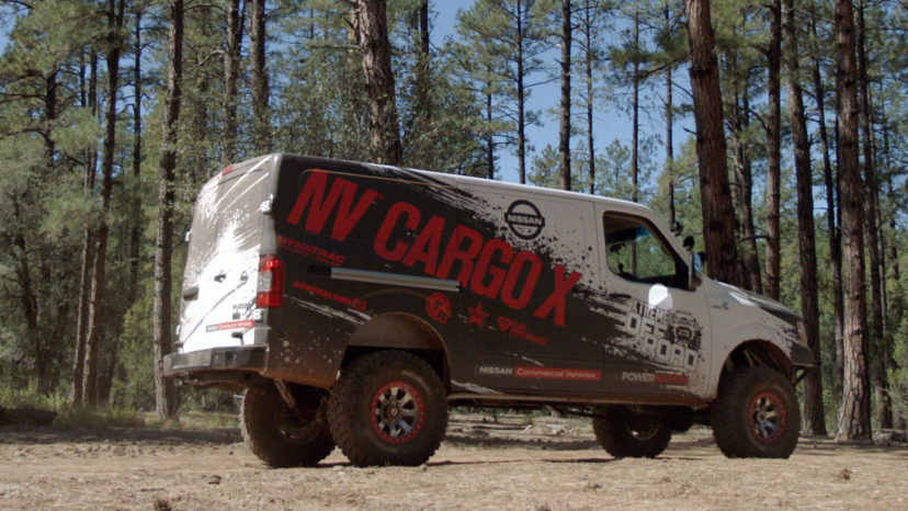 Med 37-tommers hjul og en 5,0 V8 turbodiesel fra Cummins kan man udmærket forsvare at kalde Nissan NV Cargo X for den mest ekstreme Nissan offroader på markedet