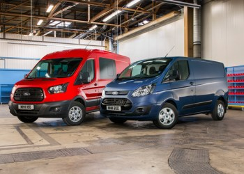 Ford holder førstepladsen i den samlede stilling med Ford Transit Custom som lokomotiv suppleret af to-tonneren Transit