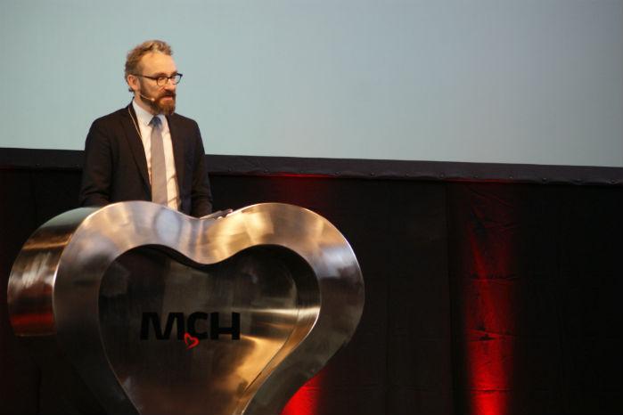 Transportminister Ole Birk Olesen fremlagde i sin åbningstale et fremtidsperspektiv med selvkørende, elektriske varebiler til last mile-distribution