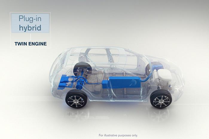 Plugin hybrid med opladningsmulighed ser ud til at blive det fremherskende system frem mod ren eldrift hos volvo