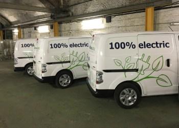 Hos Gnewt er hele flåden af bydistributionsbiler elektriske. Fotos: Gnewt