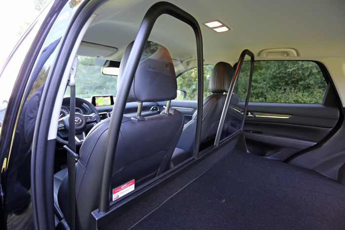Det danske bidrag til den sporty varebil er ombygningen, som kan leveres med en hel væg, en enkelt eller - som her - to afskærmninger