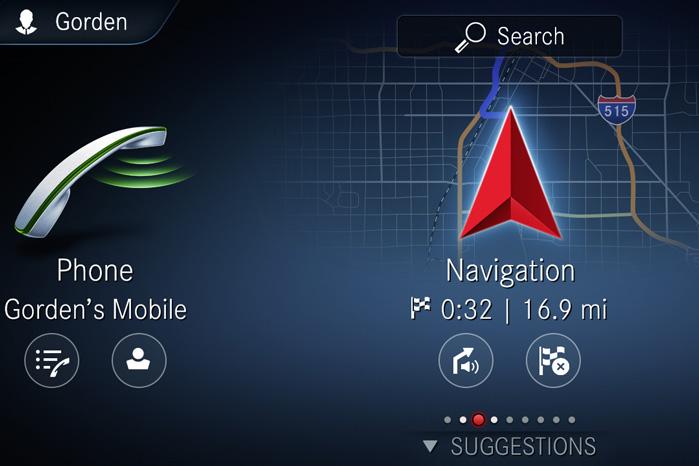 MBUX genkender føreren bag rattet og forudser hans foretrukne ruter, kørestil og telefonnumre