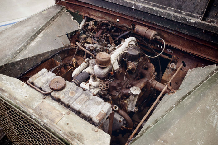 Motoren opgav ånden, mens den var i den seneste ejers besiddelse