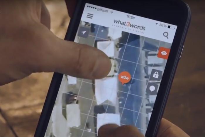 Med What3Words app kan man angive sin egen placering med tre ord