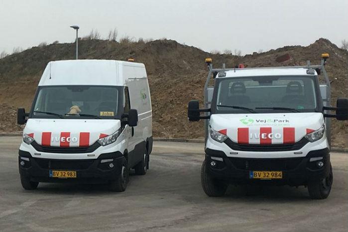 Klar til tjeneste. Sønderborg Kommunes Vej- og Parkafdeling har anskaffet sig to gasdrevne Iveco Daily'er