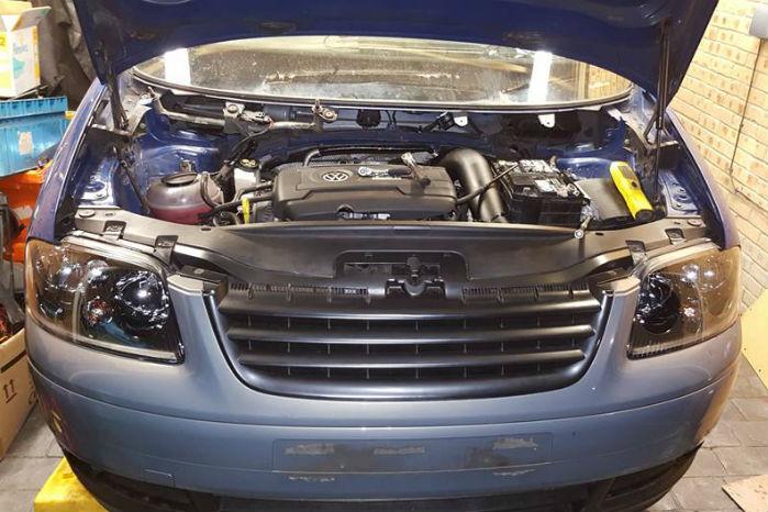 Caddy'en har fået motoren fra en Golf R Mk7