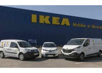 I løbet af to år vil IKEA i Frankrig elektrificere hele sin flåde i samarbejde med Renault Mobility