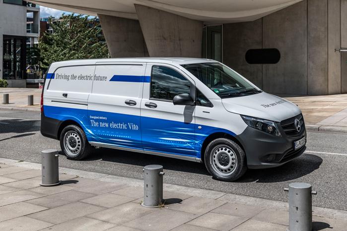 Mercedes eVito er produktionsklar og kommer på markedet til efteråret