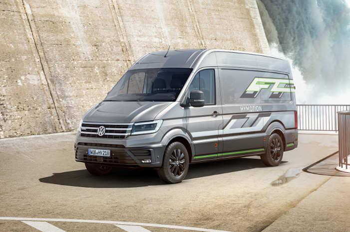 Crafter HyMotion er en varebil med brintbrændselscelledrivlinje, og den er især konstrueret til lange strækninger