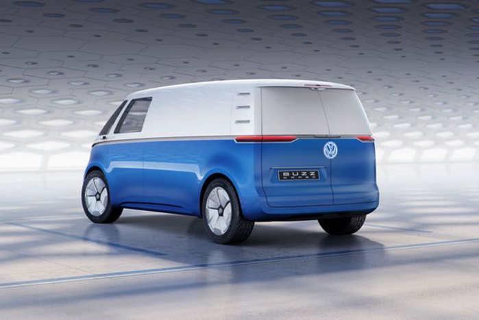 Som de øvrige fremtids-elbiler fra VW er Buzz Cargo bygget på den dedikerede elbilplatform MEB