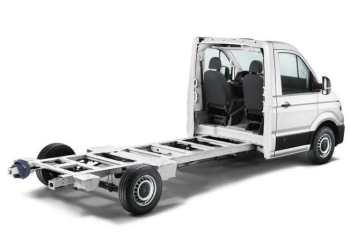 VW Crafter får ny kabine uden bagvæg til chassis-modellen