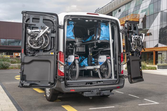 Ford hævder, at én varrebil og et hold cykelbude kan arbejde lige så effektivt som fem varevogne, der arbejder hver for sig