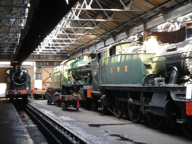 Inside the Didcot Engine Shed