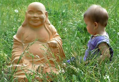 Buddha and a child