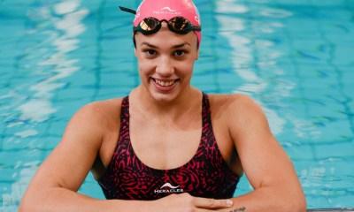 La nadadora riocuartense aceptó el reto de parte de Fernando Cicutti, periodista de TyC Sports.