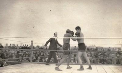 Luis Angel Firpo ante el norteamericano Joe Boykin en Río Cuarto. Árbitro: Juan Filloy