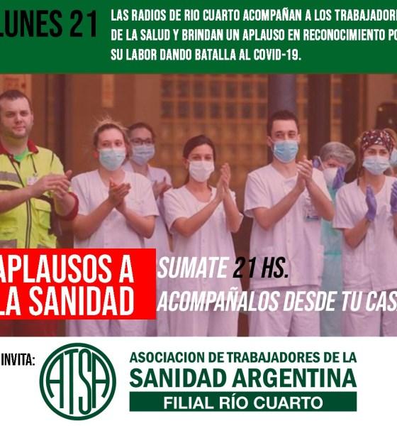 Desde ATSA Río Cuarto rememoran el día de la sanidad con un emotivo video y una invitación para las 21 hs.