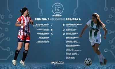 A puro gol fue el regreso al fútbol para Rocío Arcostanzo y Melania Verón.