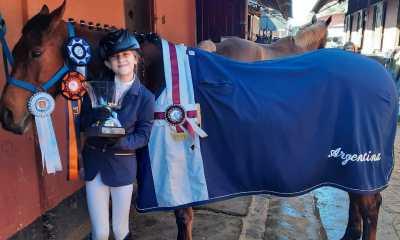 Lourdes Vasquetto, becaria de la Fundación Deportes Río Cuarto, se quedó con el tercer puesto final de Argentina en el reconocido evento organizado por la Federación Ecuestre Internacional (FEI).