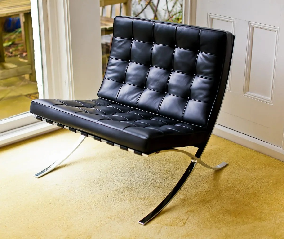 barcelona chair leather co design office chairs | knoll mies van der rohe alto stile