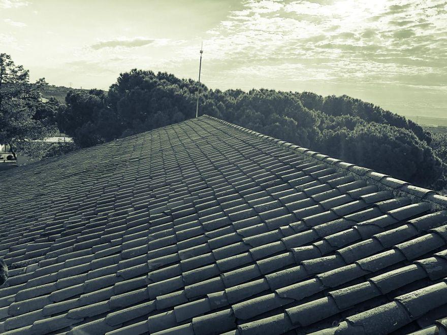 Linea de vida tejado a dos aguas