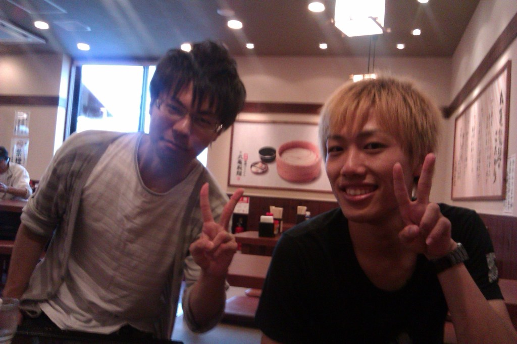 Yohei-san (blonde) and Masanobu-san (black hair)