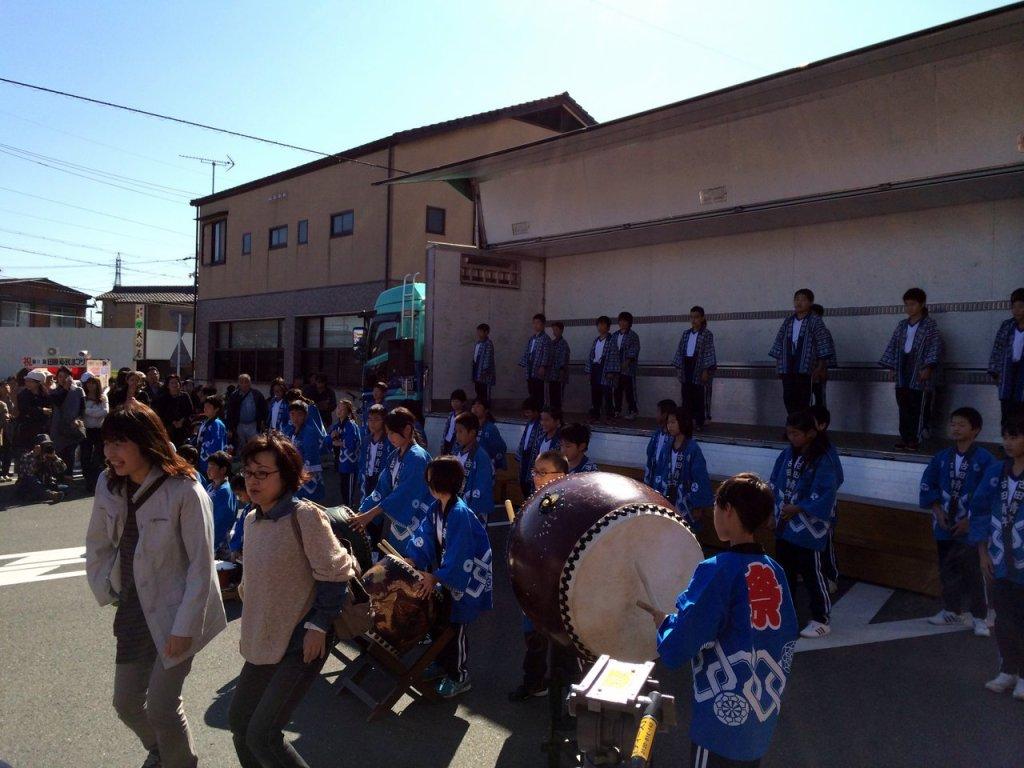 Japanese folk song performance on the tahara city citizen festival