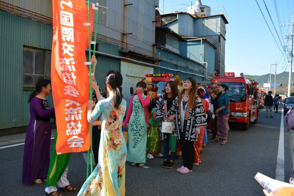 Our starting point, right before the tahara festival parade starts