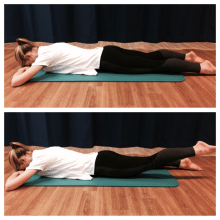 pilates helps knees IN PRONE SWIMMING