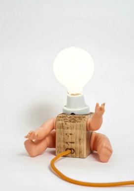 Rosemary sculpture lamp by Altrosguardo