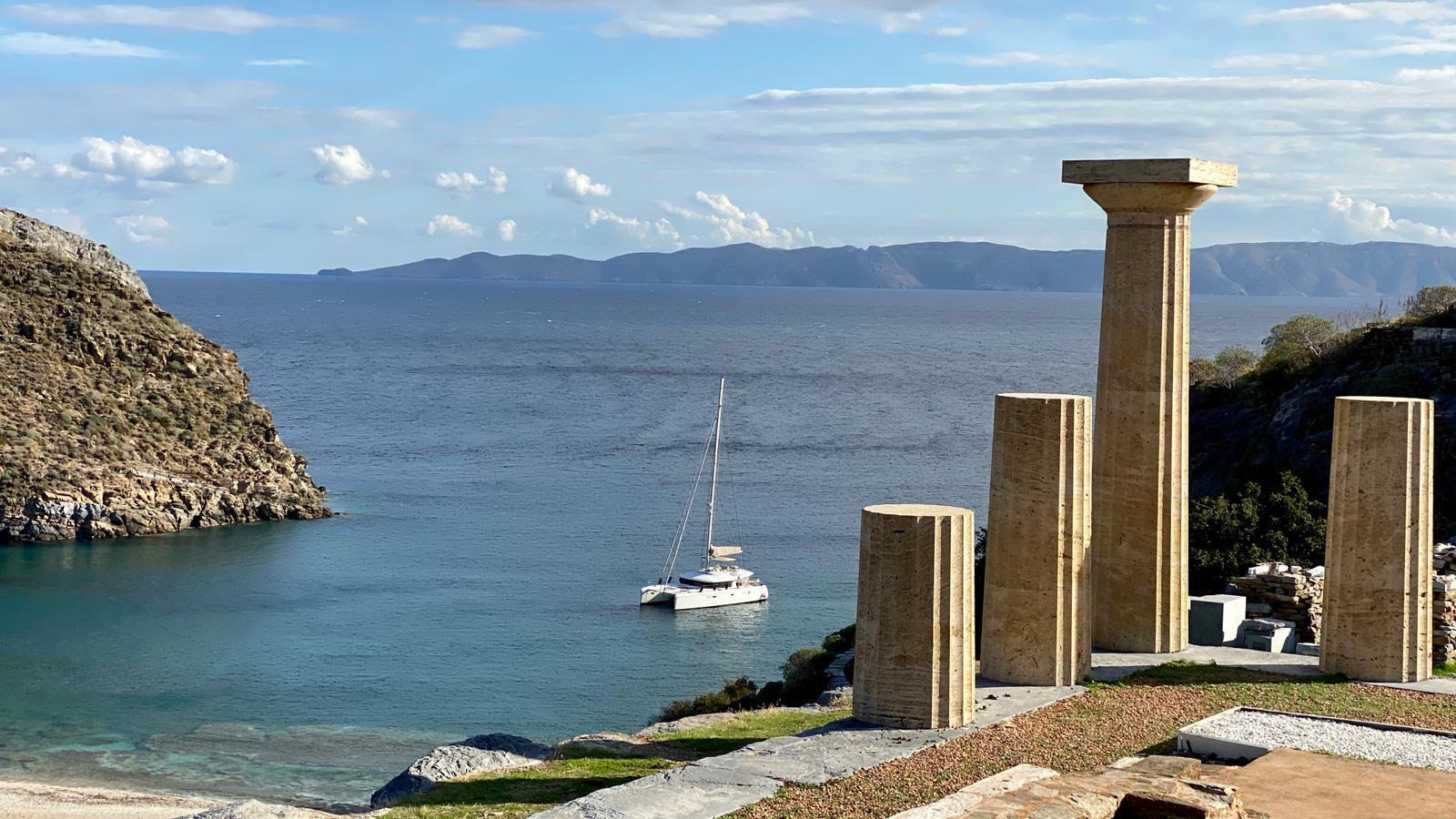 Historické památky na ostrově Kea