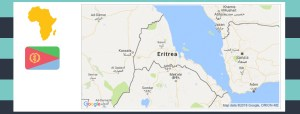 Map and flag of Eritrea.