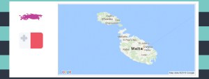 Map and flag of Malta.