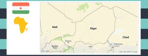 Map and flag of Niger.