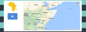 Map and flag of Somalia.