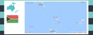 map and flag of vanuatu