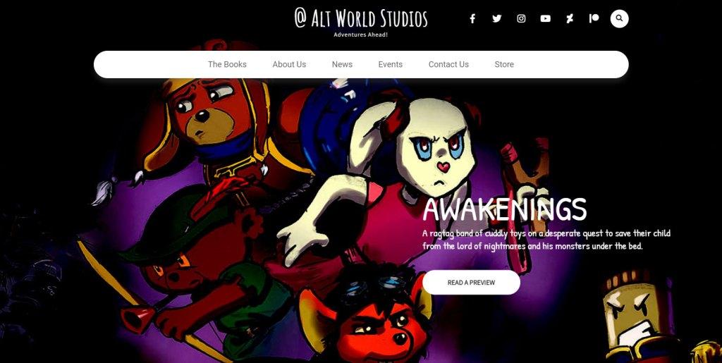 The New Alt World Studios Website