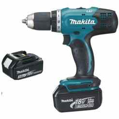 Perceuse visseuse MAKITA 18V 3.0Ah + 2 Batteries, chargeur, en coffret - DDF453SFE Référence : ME1442269