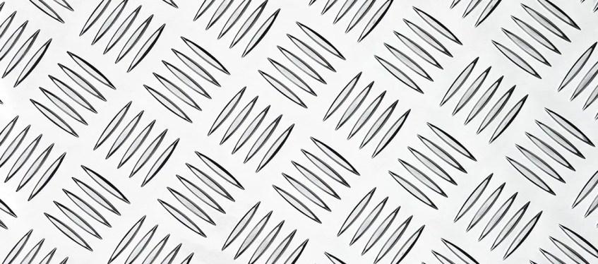 Plaques aluminium à carreaux (plaques de roulement
