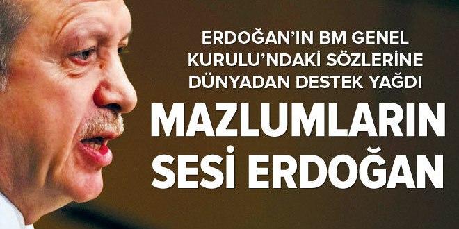Erdoğan, mazlumların sesi oldu.