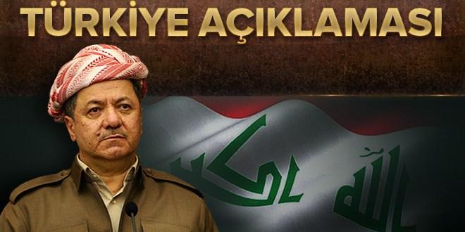 Barzani'den kritik Türkiye açıklaması
